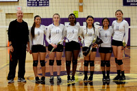 Deering Varsity Girls Volleyball Senior Photos and Game 2015